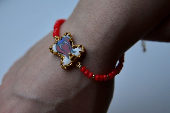Hey, I found this really awesome Etsy listing at https://www.etsy.com/listing/187730954/bracelet-oriental-with-ceramic-tulip