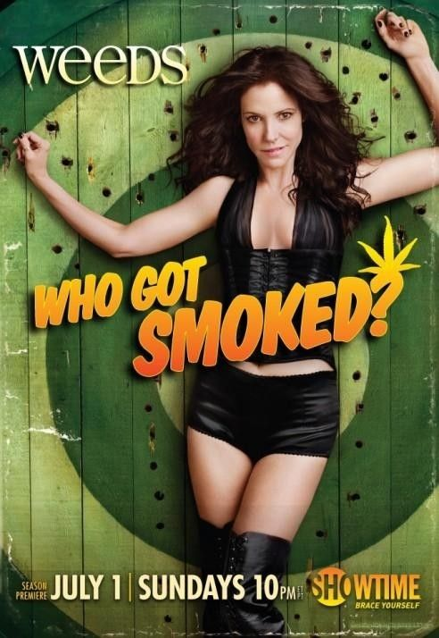 Weeds: Created by Jenji Kohan.  With Mary-Louise Parker, Hunter Parrish, Alexander Gould, Kevin Nealon. When a suburban mother turns to dealing marijuana in order to maintain her privileged lifestyle after her husband dies, she finds out just how addicted her entire neighborhood already is.