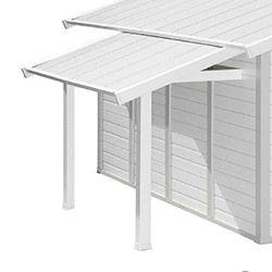 Auvent pour abris de jardin PVC gris blanc GROSFILLEX