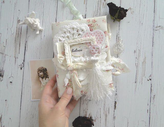 Bee Shabby: Блокнот с фотостраничками в стиле шебби шик. Мастер класс от Алины
