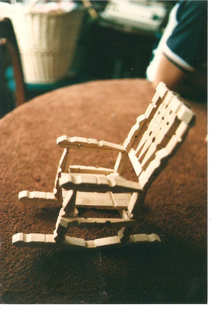 wooden peg rocking chair