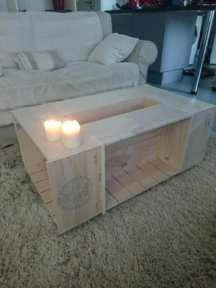 Ma table basse, caisses de vin château yquem !