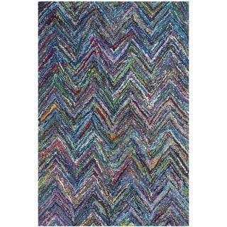 Safavieh Handmade Nantucket Blue/ Multi Cotton Rug (3' x 5') | Overstock.com Shopping - The Best Deals on 3x5 - 4x6 Rugs