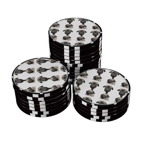 Palm gaming poker chips