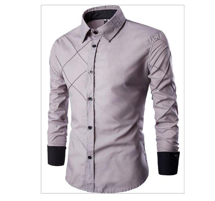 Men Shirt Casual Famous Designer Irregular Stripe Comfortable Trendy Stylish Dress Shirt