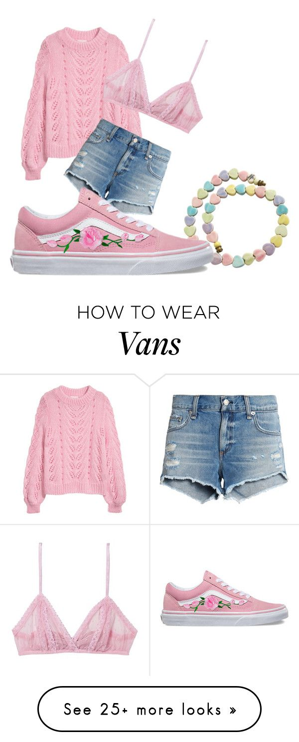 """rationally modest"" by xzanyxdcx on Polyvore featuring rag & bone/JEAN, Only Hearts, Vans and pastelsweaters"