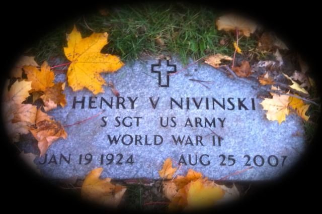 What Is All Souls Day (And Why Do Catholics Celebrate It)?: The gravestone of Henry V. Nivinski, a veteran of World War II, in Saint Mary and Saint James Cemetery in Rockford, Illinois.