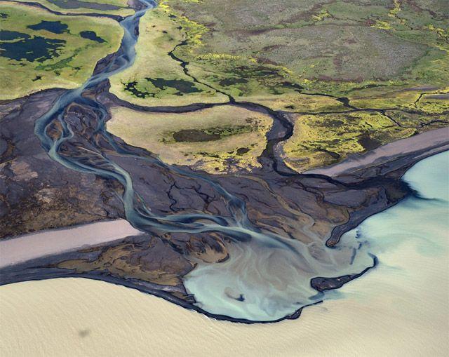 Vue Aérienne Sur Les Paysages D'Islande Par Andre Ermolaev