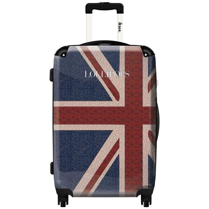 iKase London Flag 24-inch Hardside Spinner Upright Suitcase