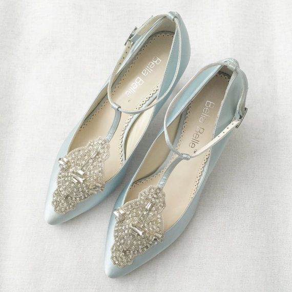 For all of our art deco beaut brides out there...these beautiful vintage blue embellished shoes would make the perfect wedding pair! Gatsby-esque...