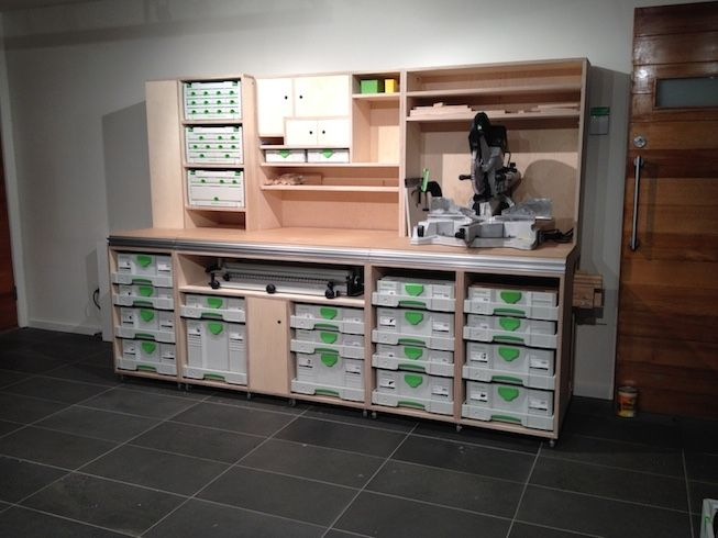 2 Wall Unit Using Sys Az Festool Sysport Pinterest