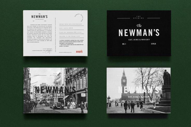 сердце мексиканского Сан-Педро-Гарса-Гарсия расположился уютный бар The Newman's Eat, Dine & Whisky. Визуальный облик, начиная от логотипа и заканчивая оформлением меню, разработали дизайнеры из Parametro Studio.