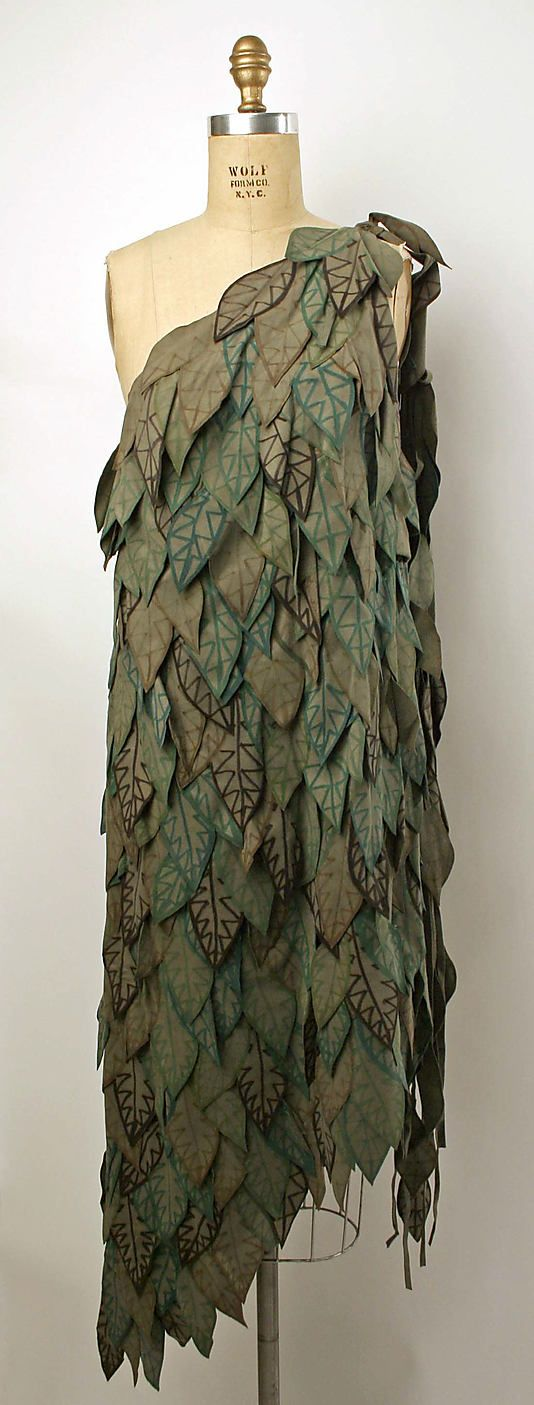Anthony Muto Ultrasuede leaf dress - 1976