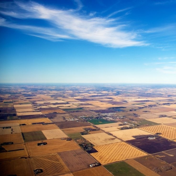 Quilted fields  All but a fraction of one percent of the tallgrass prairie has been converted to cropland