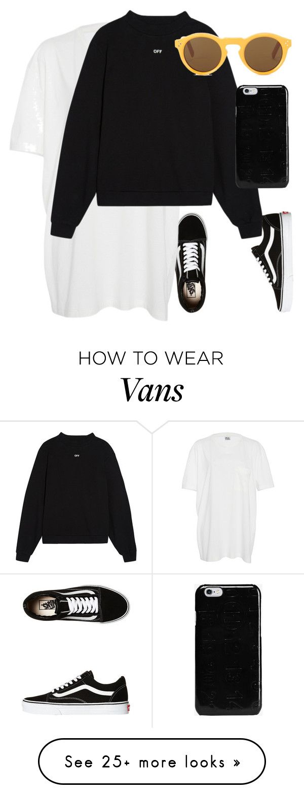"""""""Untitled #271"""" by karolina-bacurin on Polyvore featuring Vans, Band of Outsiders, Off-White, CÉLINE and Maison Margiela"""