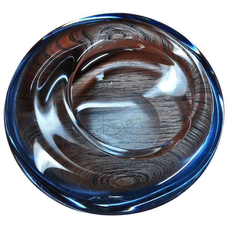 Scandinavian Blue Art Glass Jellyfish Dish | From a unique collection of antique and modern bowls and baskets at https://www.1stdibs.com/furniture/decorative-objects/bowls-baskets/