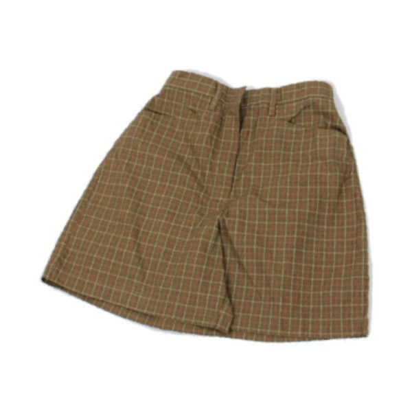 my mum made it Cotton Plaid Shorts (£31) ❤ liked on Polyvore featuring shorts, skirts, bottoms, pants, plaid shorts, cotton shorts and tartan shorts