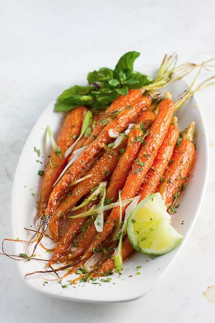 Roasted Baby Carrots with Lime & Mixed Spices!