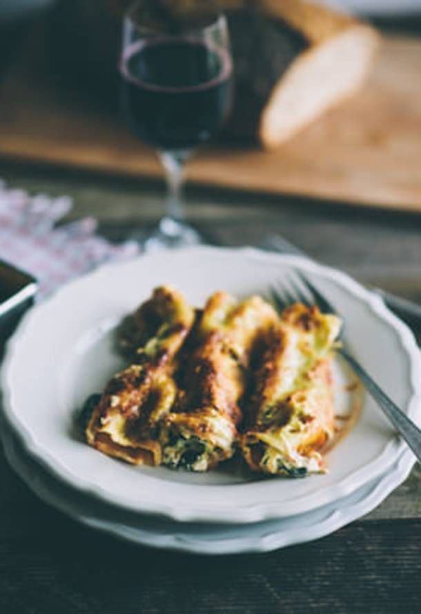 Spinach and Ricotta Cannelloni | { food styling } pasta | Pinterest