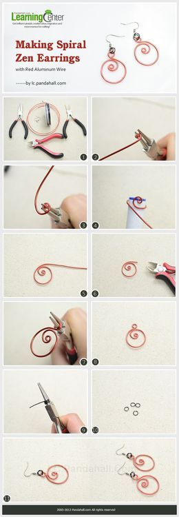 Jewelry Making Tutorial-Make Spiral Zen Earrings with Aluminum Wire