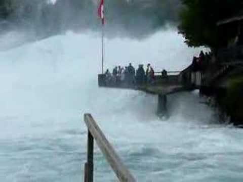 Schaffhausen - największy wodospad w Europie - Rheinfall - 3