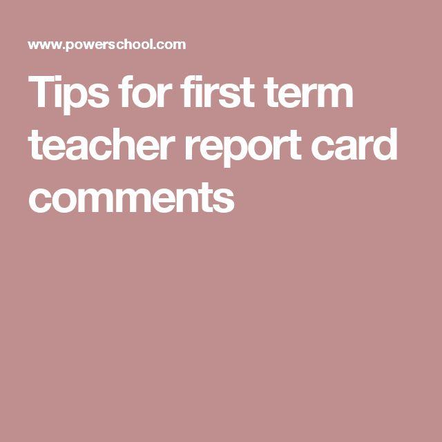 Más de 25 ideas increíbles sobre Comentarios para tarjetas de - sample report cards