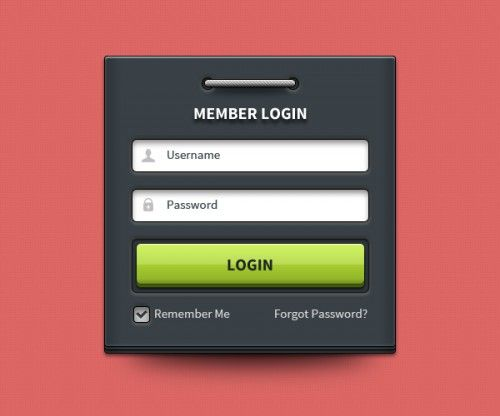 Nice Member login form UI element PSD. Friends today's download is a pretty clean and modern login form UI in Photoshop PSD format. The member login form is a dark UI element that you can use for your web design or can download and add as a future useful resource in your design toolbox. Like always the elements in the login PSD are editable created using shape and object layers. You can modify the PSD file per your requirements. Useful and handy right!?!  #adobe #clean #creative #design…