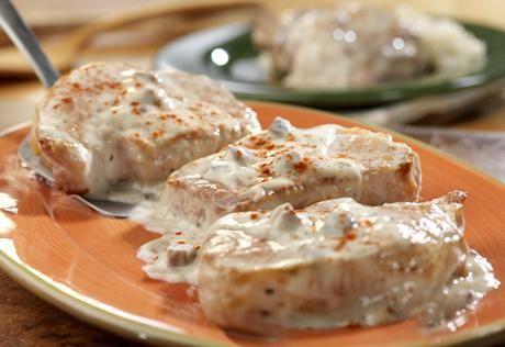 Campbell's Creamy Ranch Pork Chops & Rice Recipe