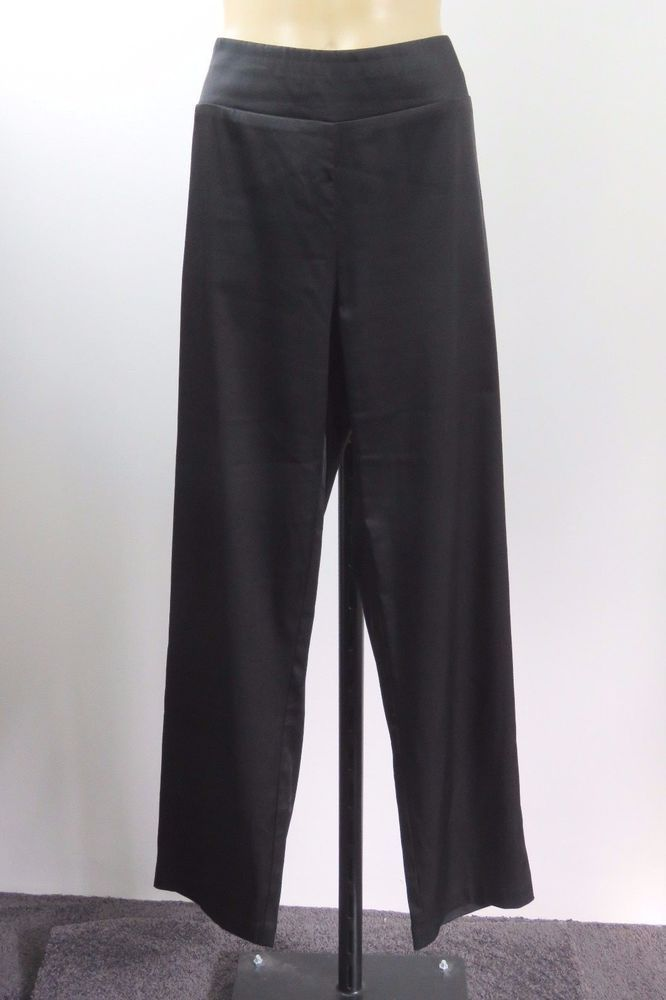 Size L 14 Taking Shape Ladies Black Dress Pants Trousers Business Cocktail Style #TakingShape #DressPants