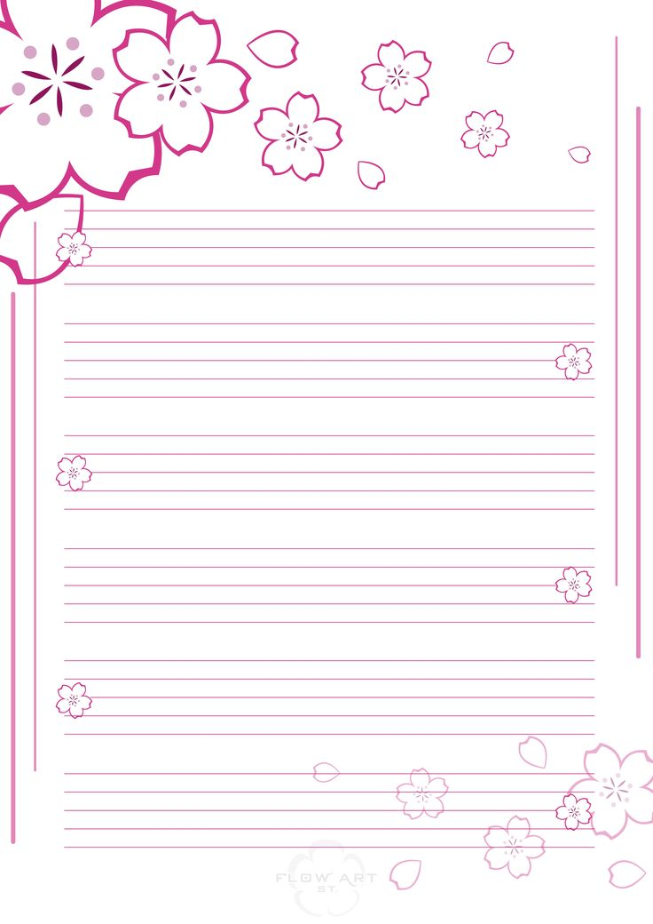 Printable stationery writing paper