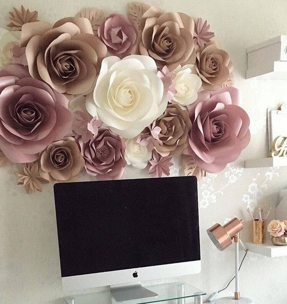 Paper Flowers Wall Decoration Large Paper Flowers Paper Flower
