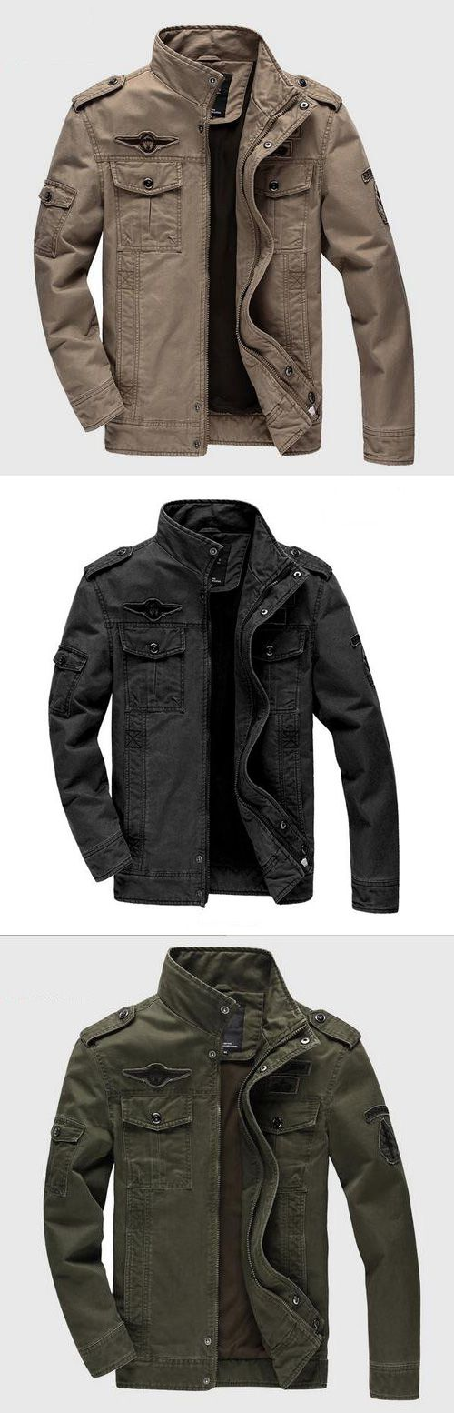 Men's Casual/Daily Simple Fall Winter Jacket