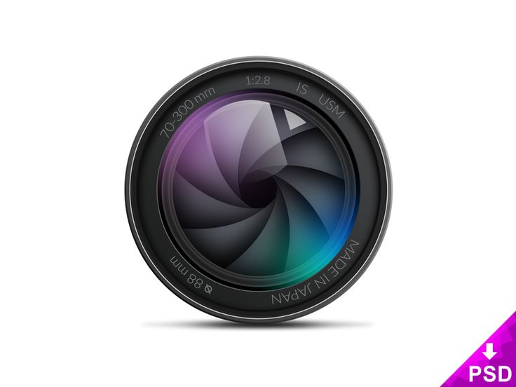 Camera Lens Illustration