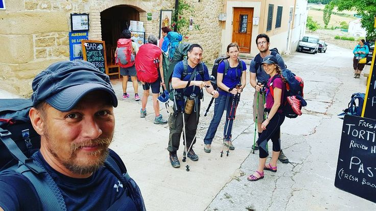 "Link in bio#thatchillaxdude 03Jun / Day 38 - Puerta La Reine - Villatuerta 13km -- Family photo... or as we like to call it ""Tess' serious-face photo""!! #followyourarrow #travel  #wandern #travelbug #travelgram #wanderlust #notallwhowanderarelost #solotravel #worldtravel #natgeo #wander #explore #backpack #backpacking  #buencamino #europe #love #spain #chemindesaintjacques #caminofrances #caminodesantiago #extremecamino #lechemindesaintjacquesdecompostelle #caminodesantiagodecompostela…"