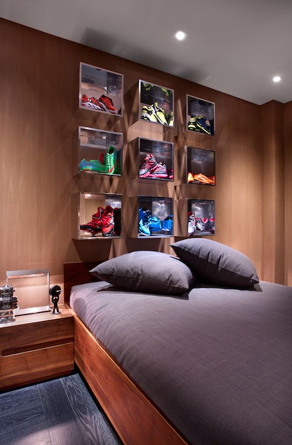 Sophisticated boys room.