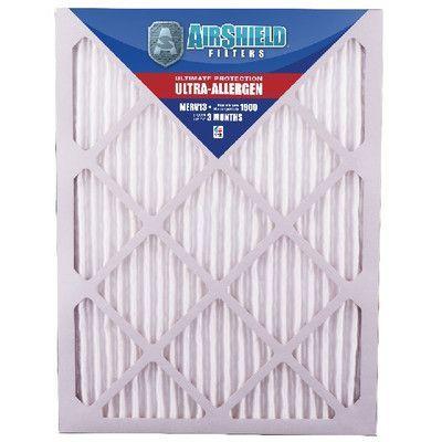 "AirShield MERV 13 Ultra-Allergen Air Filter Size: 10"" H x 10"" W x 1"" D"