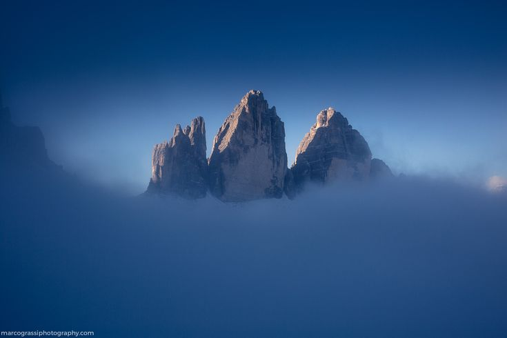 """Tre cime in the clouds - <a href=""""http://www.marcograssiphotography.com""""> WEBSITE 