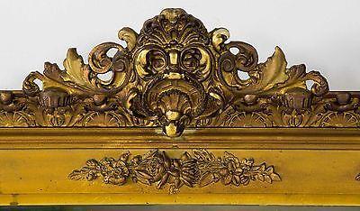 Старинный викторианский резной позолоченной древесины зеркало