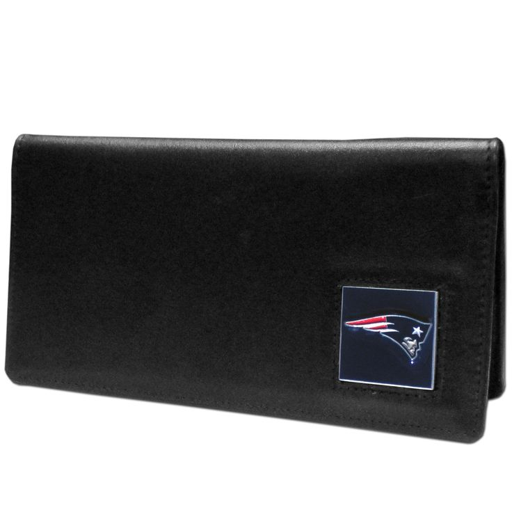 "Checkout our #LicensedGear products FREE SHIPPING + 10% OFF Coupon Code ""Official"" New England Patriots Leather Checkbook Cover - Officially licensed NFL product Licensee: Siskiyou Buckle Genuine fine grain leather Fits top and side loaded checkbooks Plastic sleeve for duplicate check writing Metal New England Patriots emblem with enameled team colors - Price: $22.00. Buy now at https://officiallylicensedgear.com/new-england-patriots-leather-checkbook-cover-fnc120bx"