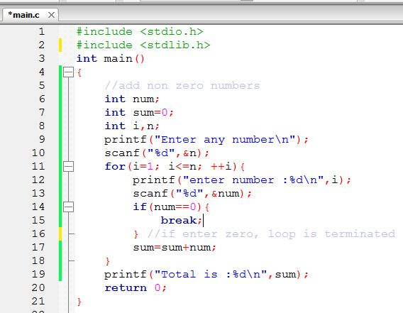 Break Statement In C Programming Language Code For Java C