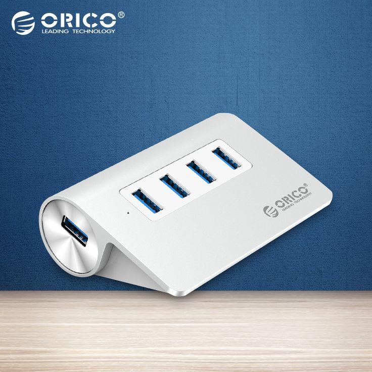 Orico nueva mac aluminio de alta velocidad 4 puerto micro usb 3.0 hub con certificación ce fcc-plata (m3h4-sv)