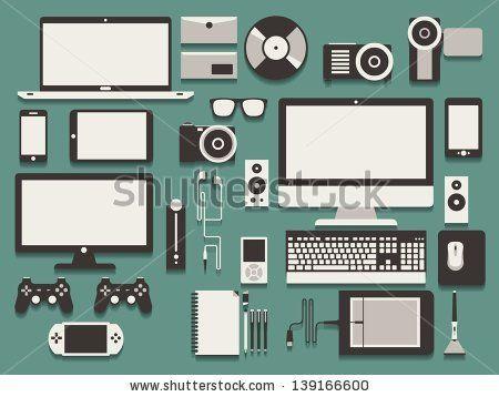 computer and technology vector background by filip robert, via Shutterstock