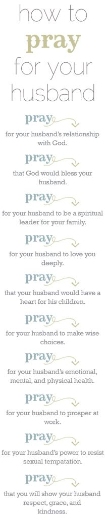How to pray for your husband.