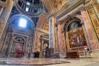 Sistine Chapel is the best-known chapel in the Apostolic Palace, the official residence of the Pope in the Vatican City. Michelangelo painted 1,100 m2 (12,000 sq ft) of the chapel ceiling between 1508 and 1512. The ceiling, and especially The Last Judgment (1535–1541), is widely believed to be Michelangelo's crowning achievement in painting.