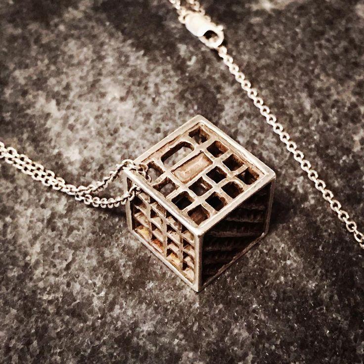 #tiny #milkcrate #silver #pendant #necklace #miniature #carving #handmade #instajewelry #instajewellery #jewelry #jewellery #streetart #streetstyle #brisbanedesigner #ipswichqld #ipswich #milkcrates #studiomaak #graffiti #bling #lux