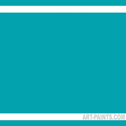Teal Blue Ecological Acrylic Paints 205 Teal Blue