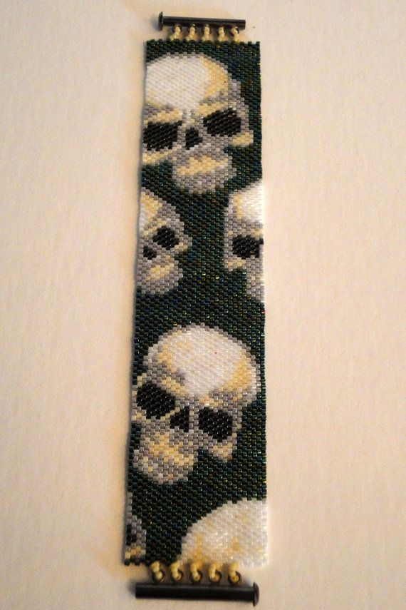 26 best skulls peyote bead designs images on pinterest