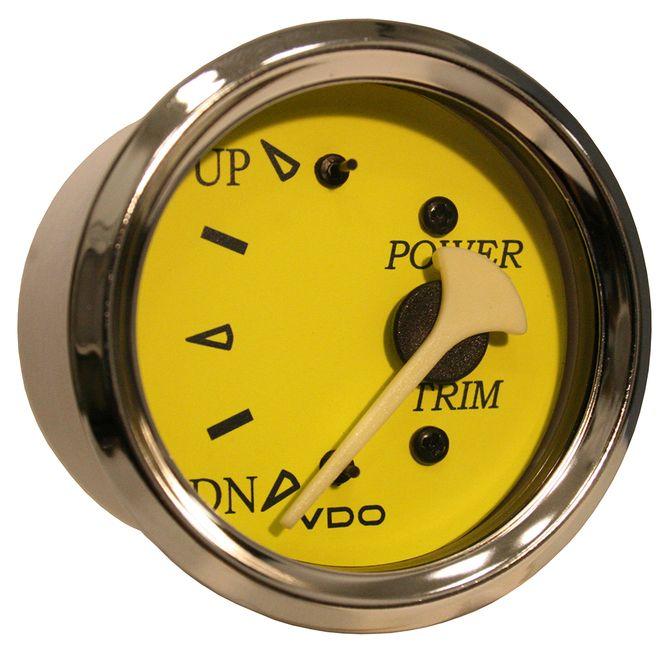 VDO Allentare Yellow/Blue Trim Gauge - For Use w/Mercury/Volvo/Yamaha 2001+ Engines - 12V [382-14762]