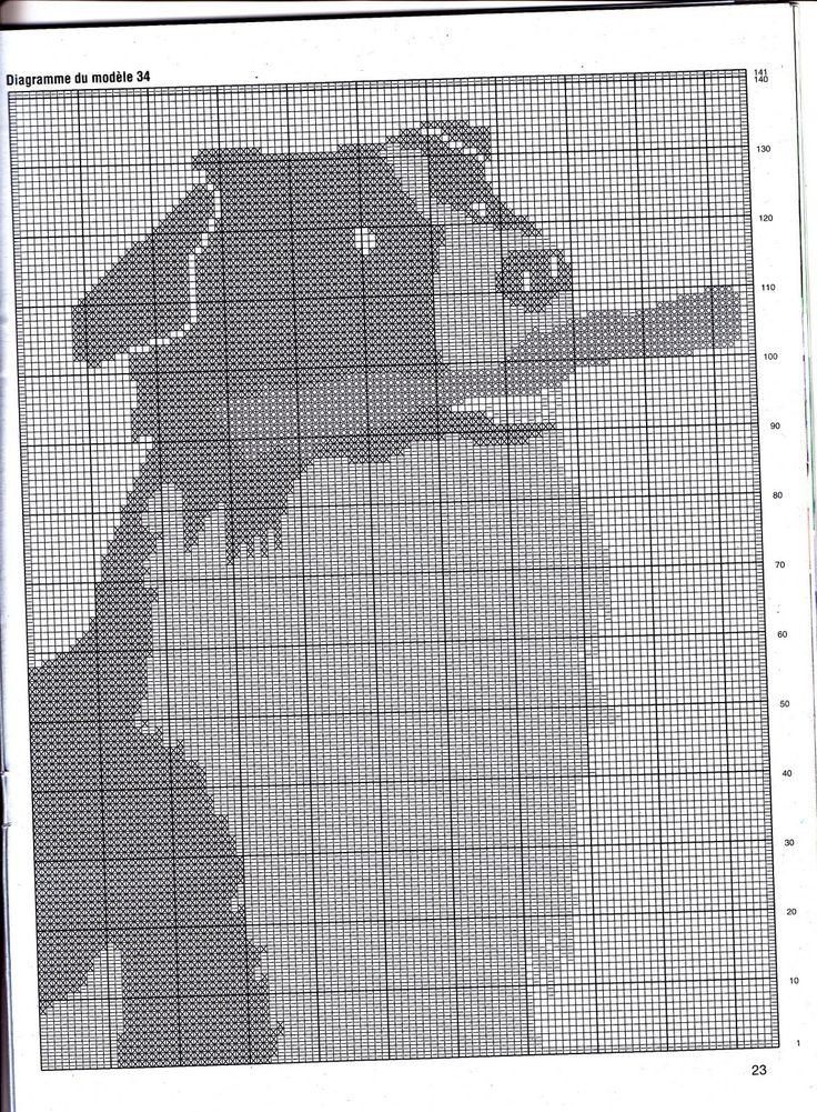Häkeln Gardine Filethäkeln - crochet curtain