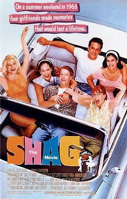 Shag is a 1989 comedy film starring Bridget Fonda, Phoebe Cates, Annabeth Gish, Page Hannah, Jeff Yagher and Scott Coffey. The film features Carolina shag dancing and was produced in cooperation with the North Carolina Film Commission. The soundtrack album was on Sire/Warner Bros. Records.